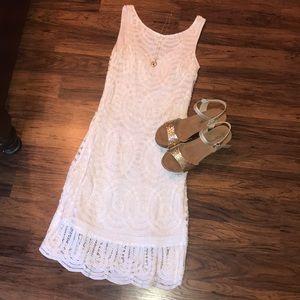 Caché Sparkly White Dress